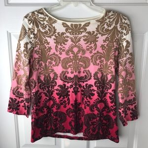 Charter Club Luxury Prima Cotton Ombré Print Top